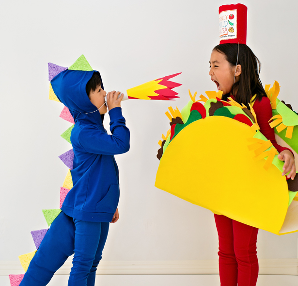 how to make a taco costume out of cardboard