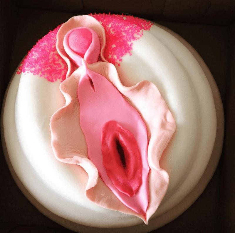 Fox Baby Shower Cake