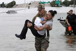 Houston Flood Baby and Mother