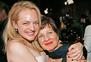Elisabeth Moss and Mom